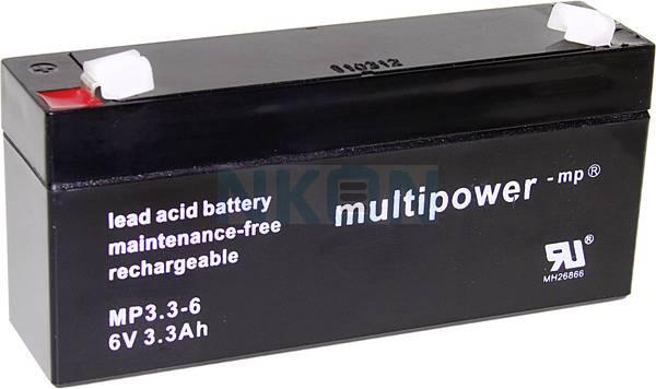 Multipower 6V 3.3Ah Loodaccu (4.8mm)