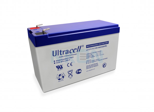 Ultracell Deep Cycle Gel 12V 9Ah Loodaccu