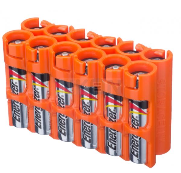 12 AAA Powerpax Battery case - Oranje