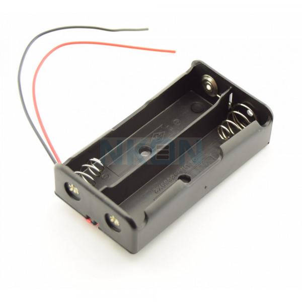 2x 18650 Batterijhouder met losse draden