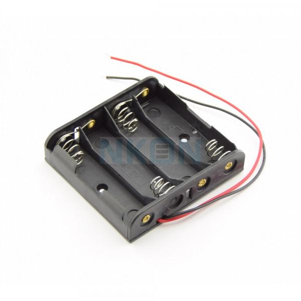 4x AA Batterijhouder met losse draden