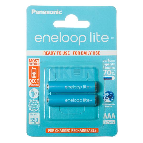2 AAA Eneloop Lite in blister - 550mAh