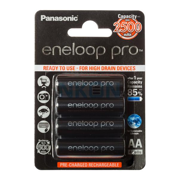 4 AA Eneloop Pro in blister - 2500mAh