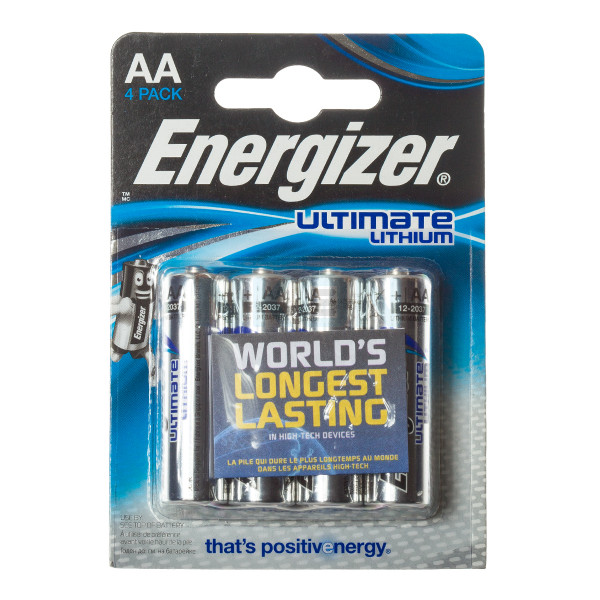 4 AA Energizer Ultimate Lithium L91