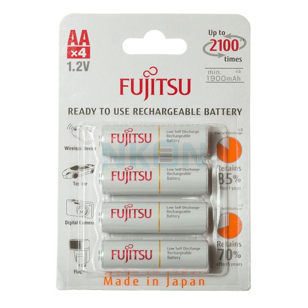 4 AA Fujitsu in blister - 1900mAh