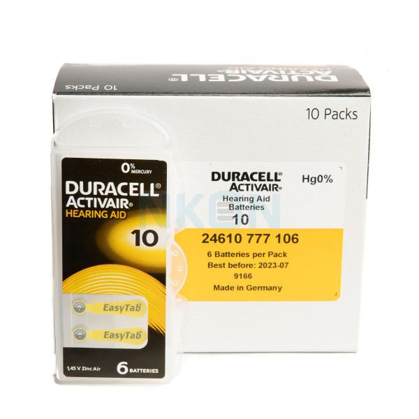 60x 10 Duracell Activair hoorbatterijen