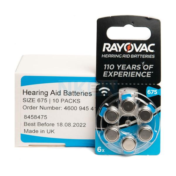 10x6 Rayovac Acoustic Special 675 hoorbatterijen
