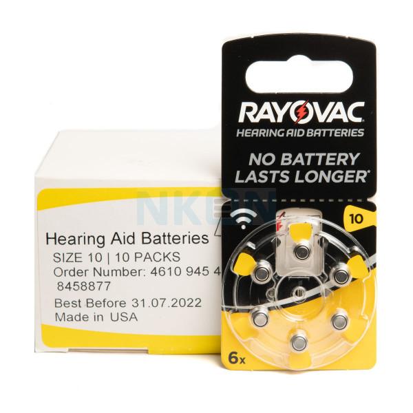 60x 10 Rayovac Acoustic Special hoorbatterijen