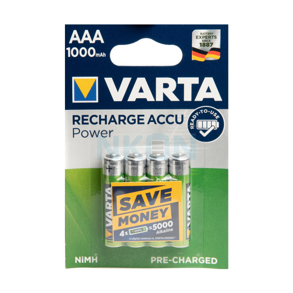 4 AAA Varta Recharged Accu Power - blister - 1000mAh