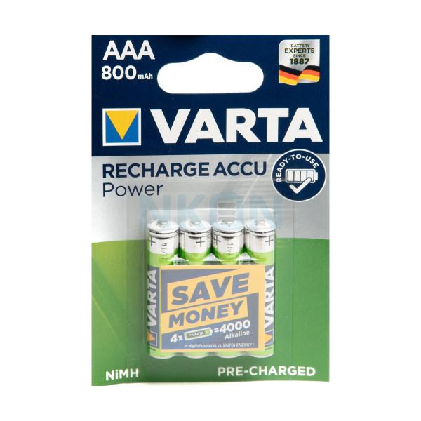 4 AAA Varta Recharge Accu Power in blister - 800mAh