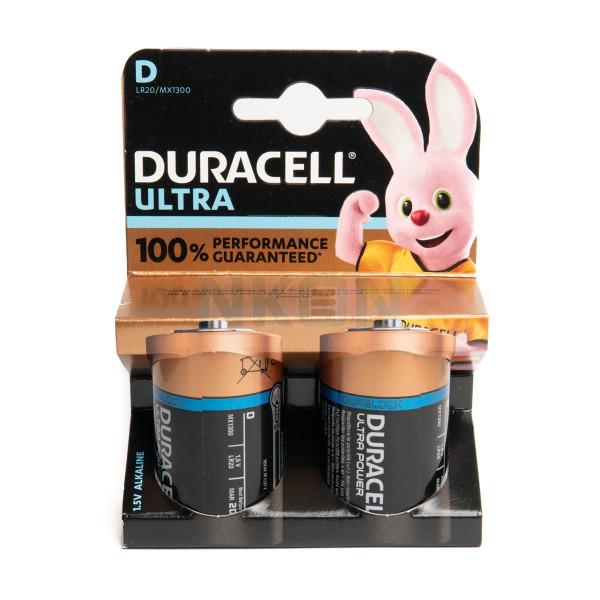 2 D Duracell Ultra - blister