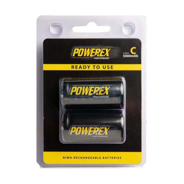 2 C Maha Powerex Precharged - blister - 5000mAh