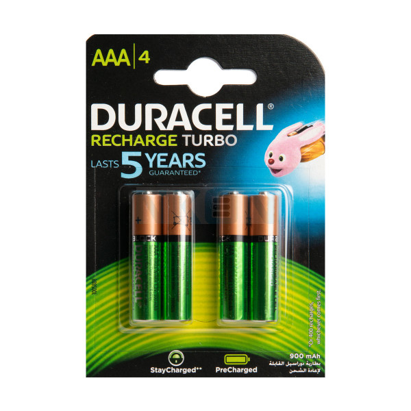 4 AAA Duracell Recharge Turbo - blister - 850mAh