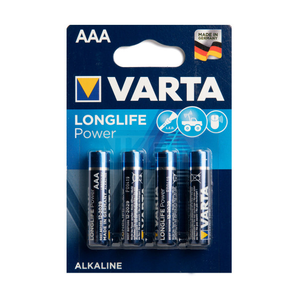 4 AAA Varta Longlife Power - blister
