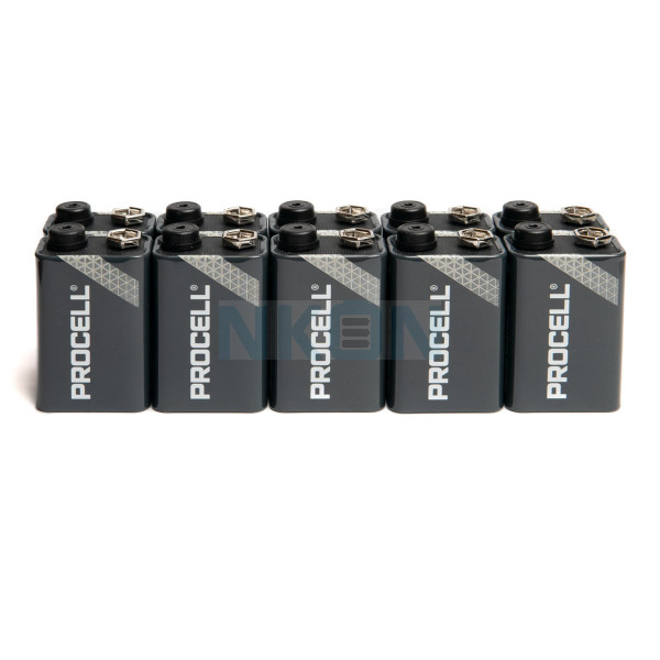 10 9V Duracell Procell