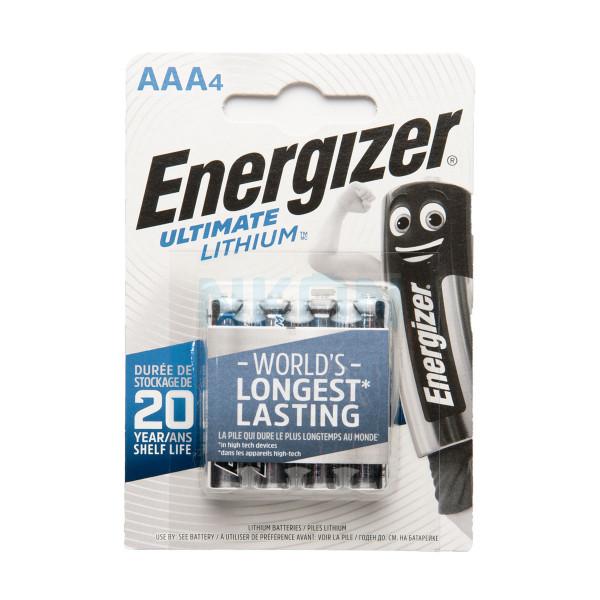 4 AAA Energizer Lithium batterijen L92