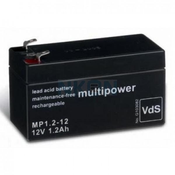 Multipower 12V 1.2Ah Loodaccu (4.8mm)