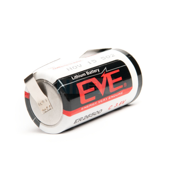 EVE ER26500 C-formaat Lithium met U-tags - 3.6V