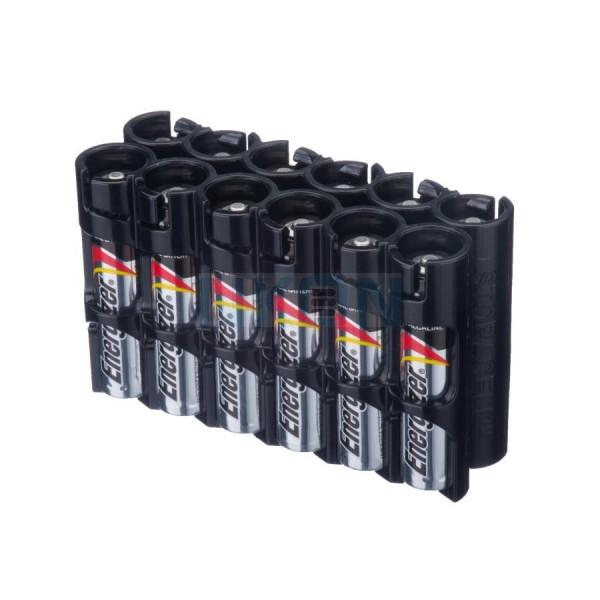 12 AAA Powerpax Battery case - Zwart