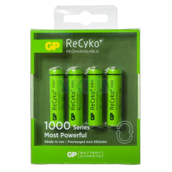 4 AAA GP Recyko+ 1000 in blister - 950mAh