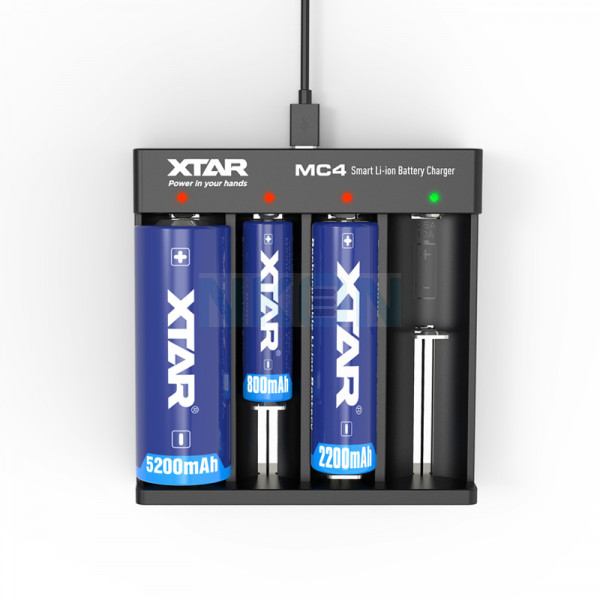 XTAR MC4 batterijlader