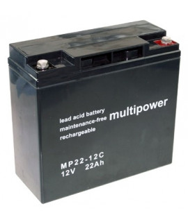 Multipower Deep Cycle 12v 22Ah Loodaccu
