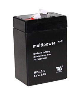 Multipower 6V 4.5Ah Loodaccu (4.8mm)