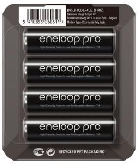 4 AA Eneloop Pro in sliding blister - 2500mAh