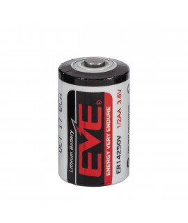 EVE ER14250 1/2AA Lithium batterij 3.6V (wegwerp)