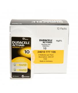 10x6 Duracell Activair 10 hoorbatterijen