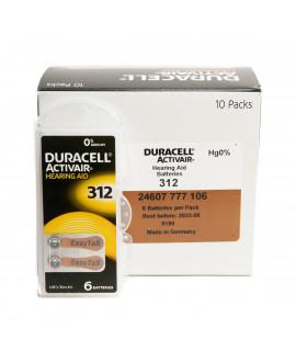 10x6 Duracell Activair 312 hoorbatterijen