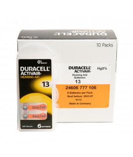 10x6 Duracell Activair 13 hoorbatterijen