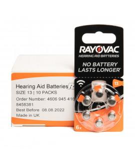 10x6 Rayovac Acoustic Special 13 hoorbatterijen