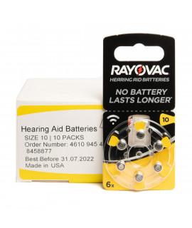 10x6 Rayovac Acoustic Special 10 hoorbatterijen