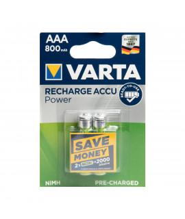 2 AAA Varta - blister - 800mAh