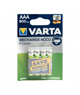 4 AAA Varta Recharge Accu Power - blister - 800mAh