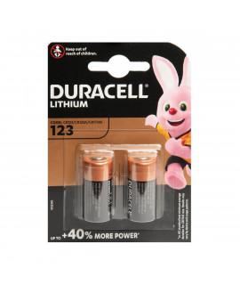 2x Duracell CR123A Lithium - blister