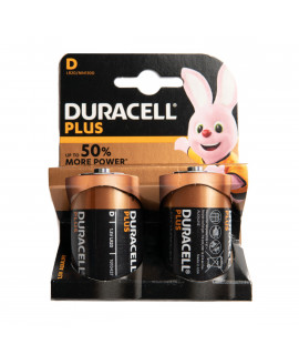 2x D Duracell Plus - blister
