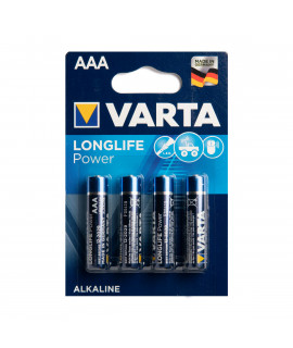 4 AAA Varta Longlife Power - blister