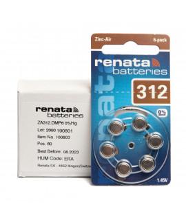 10x6 Renata ZA 312 hoorbatterijen