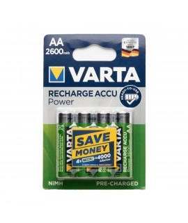 4 AA Varta Recharge - blister - 2600mAh