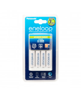 Panasonic Eneloop BQ-CC17 batterijlader + 4 AA Eneloop (1900mAh)