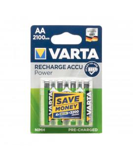 4 AA Varta Recharge - 2100mAh