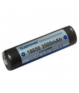 Keeppower 18650 3500mAh (protected) - 10A (Button-top)
