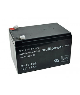 Multipower 12V 12Ah Loodaccu (6.3mm)