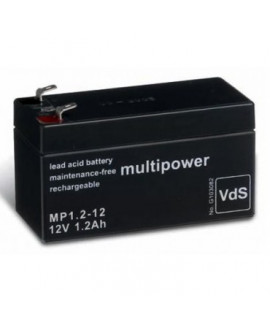Multipower 12V 1.2Ah Loodaccu (4.8mm)