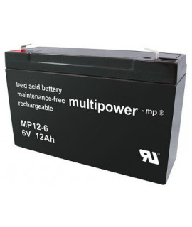 Multipower 6V 12Ah Loodaccu (4.8mm)
