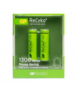 2 AA GP ReCyko+ 1300 in blister - 1300mAh