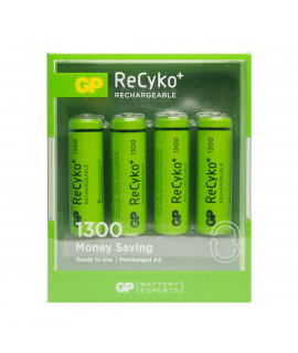 4 AA GP ReCyko+ 1300 in blister - 1300mAh