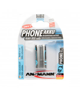 2 AAA Ansmann Phone accu - blister - 800mAh